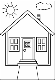kids 7 houses homes coloring pages