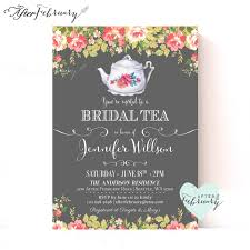 Make Your Own Bridal Shower Invitations Bridal Shower Tea Party Invitations Lilbibby Com