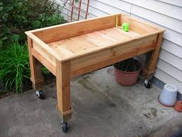 how to make a raised garden bed with legs home outdoor decoration