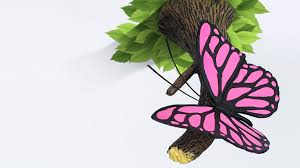 pink butterfly 3dlightfx