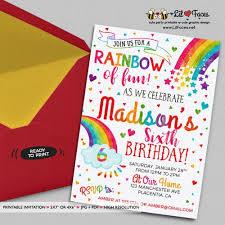 best 25 rainbow birthday invitations ideas on pinterest rainbow