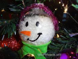 clear ornaments for diy snowman ornament