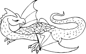 dragon coloring free coloring