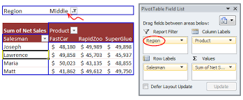 Excel 2010 Pivot Table What Are Pivot Table Report Filters And How To Use Them Chandoo