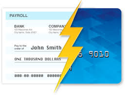 direct deposit card features purpose card