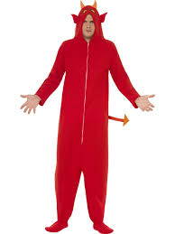 halloween inmate costume devil onesie jumpsuit mens halloween fancy dress sinners