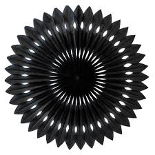 black paper fan 40cm party splendourparty splendour