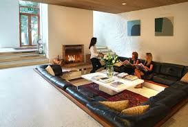 Modern Mansion Centered Conversation Social Pit Sunken Sitting Areas To Fit Your