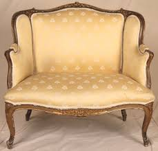 French Settee Loveseat 19th Century Louis Xv Xvi One Half Sofa Chair Settee Loveseat