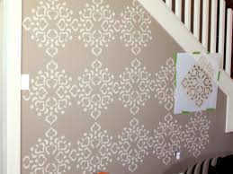 How To Paint Over Dark Walls by How To Stencil A Focal Wall Hgtv