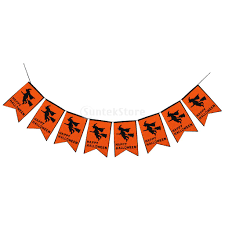 halloween banner flag flying witch garden lawn party hanging
