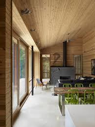 Modern Minimalist Interior Design by Ultra Modern Cabin Blends Rustic Warmth With Modern Minimalism