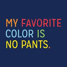 my favorite color is no pants t shirt snorgtees