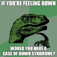 Feeling Down Meme - philosoraptor meme imgflip