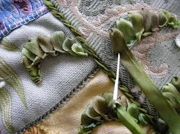 leaf ribbon s in stitches silk ribbon leaves tutorial