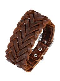 leather wrist bracelet images Buy the jewelbox braided dark brown 100 genuine handcrafted jpg