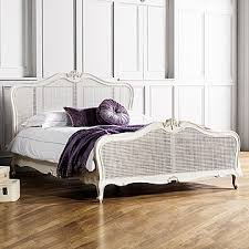 King Size Shabby Chic Bed by White French Style Bed King Size Shabby Chic Style Panel