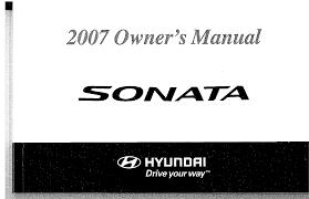 2007 hyundai sonata owners manual pdf