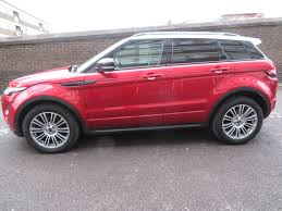 burgundy range rover black rims left hand drive lhd land rover range rover evoque 2 2sd4 for