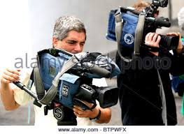 Photography And Videography Press Photographer Tv Camera Crew Journalists At A Press Stock