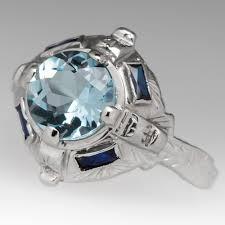 aquamarine rings u0026 jewelry march birthstone eragem