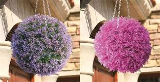 Light Up Topiary Balls - 30cm artificial heather hanging topiary ball various colours