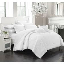 chic home keynes down alt jacquard white striped 7 piece comforter
