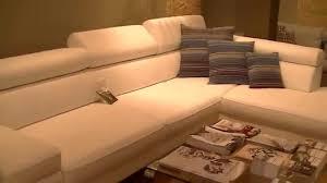 lambermont canapé canapé d angle 5 places design en cuir blanc neige b baxter