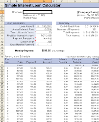 Payment Schedule Excel Template Loan Amortization Schedule And Calculator
