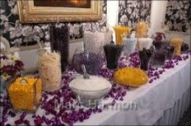 purple and gold candy table u2013 luxury room decor