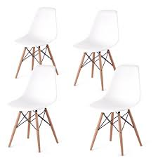 Amazon Fr Fauteuil Eames Chaises Design Eames Dsw Blanc 4u Set De Chaises Amazon Fr