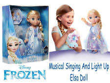 disney frozen northern lights elsa music and light up dress disney frozen northern lights elsa singing doll ebay