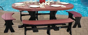 kirby built picnic tables amish patio furniture sets amish polywood furniture cabinfield