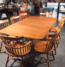 S Bent And Bros Maple Dining Room Set  EBTH - Maple dining room tables