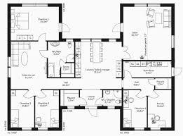 plan villa plain pied 4 chambres plan maison moderne plain pied élégant plan maison plain pied 4