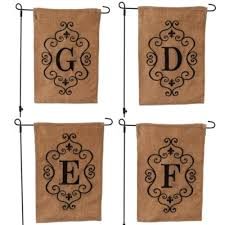 burlap monogram garden flags kirklands