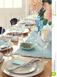 Formal Dining Setting Table Formal Dinner Table Setting At Home Stock Photo Image 48238609