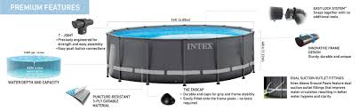 Intex Swimming Pool Pumps And Filters Amazon Com Intex 16ft X 48in Ultra Frame Pool Set With Sand