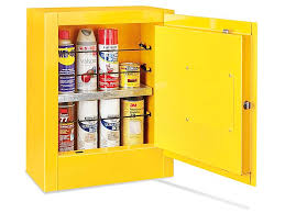 Yellow Flammable Storage Cabinet Mini Flammable Storage Cabinet Manual Doors Yellow H 4174m Y