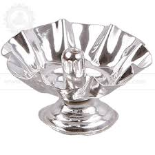 Housewarming Gifts India by German Silver Floral Lamp Return Gifts