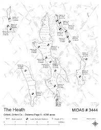 Maine Maps Lakes Of Maine Lake Overview Thompson Lake The Heath