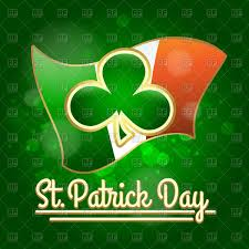 shamrock against irish flag st patrick u0027s day design vector