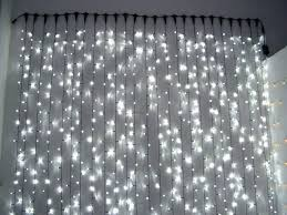 Led Light Curtain Curtains With Lights White String Bulbs In Waterproof Led