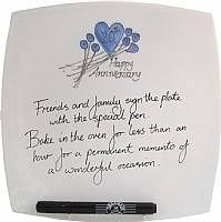 20th wedding anniversary gifts 20th wedding anniversary signing plate home kitchen