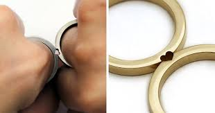 marriage rings matching wedding rings that become one when combined bored panda