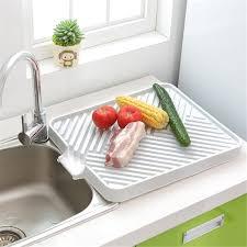 kitchen sink drainer tray kitchen plastic drainer tray holder dish plate sink draining board