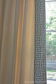 amanda carol at home diy greek key trimmed drapery a great way