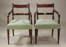 Mahogany Dining Tables And Chairs Set Of 6 Late Georgian Inlaid Mahogany Dining Chairs England
