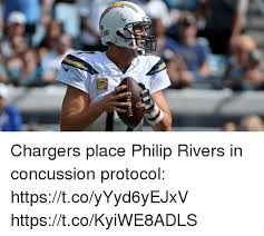 Philip Rivers Meme - chargers place philip rivers in concussion protocol
