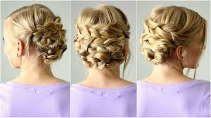 braided updo for shorter hair missy sue youtube